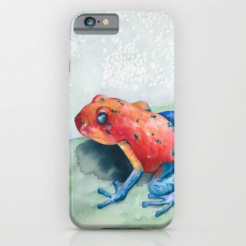 Blue Jean Frog Phone Case - Wildife Painting - Designer iPhone Samsung Case - Brazen Design Studio