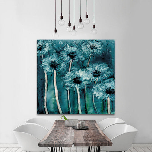 Watercolor Painting - Dandelion Wishes Floral Abstract Art Print - Brazen Design Studio