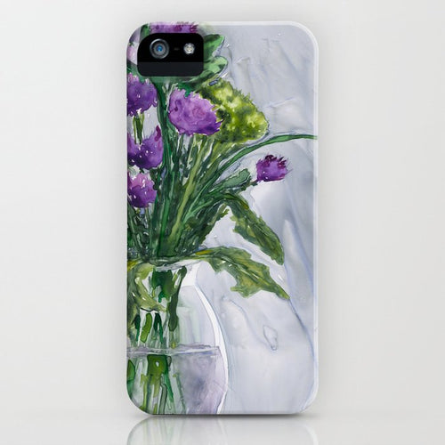 Floral Vase Phone Case - Love Token Case - Floral Painting - Designer iPhone Samsung Case