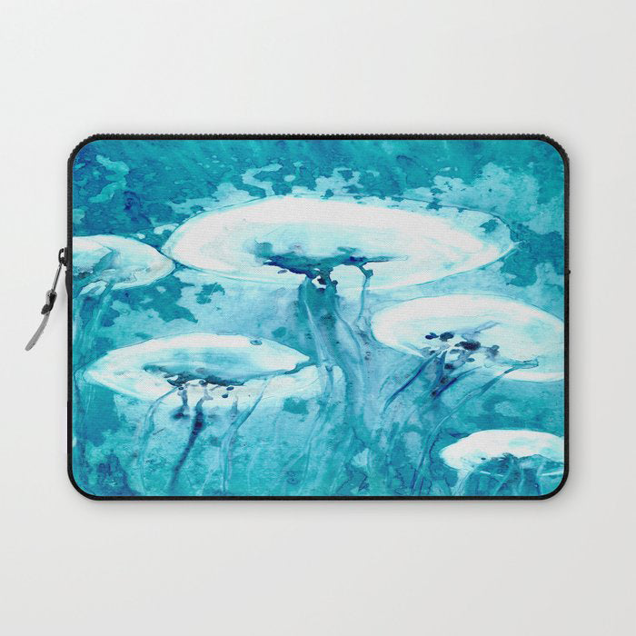 Jellyfish Macbook Pro Laptop Case - Watercolor Painting - Printed Fabric Laptop Sleeve