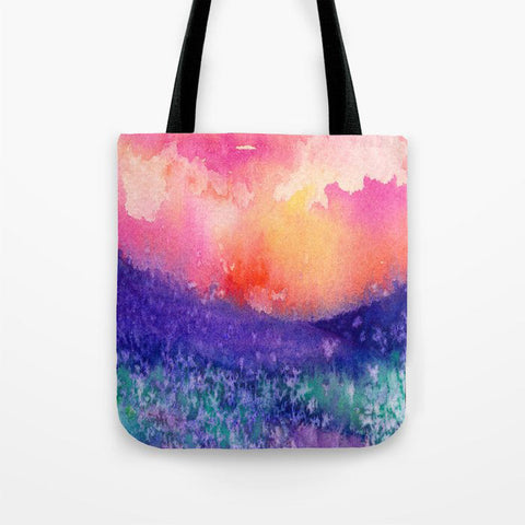 Red Poppies Art Tote Bag -  Floral Watercolor Painting - Shopping Bag