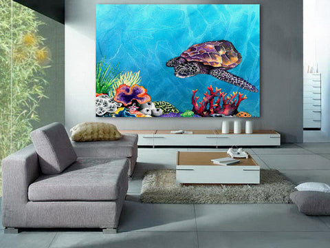 Take Me Home - Oil Painting Landscape Nature Inspired Contemporary Art Print