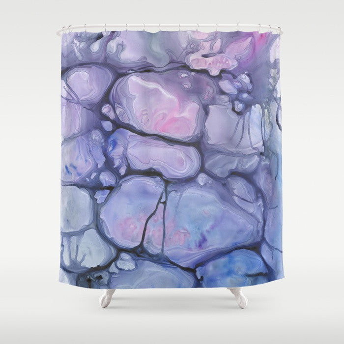 Violaceae Shower Curtain Watercolor Painting