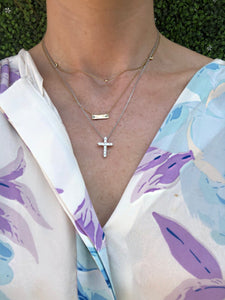 Large Diamond Cross Necklace