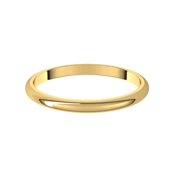 2mm Gold Spacer Band