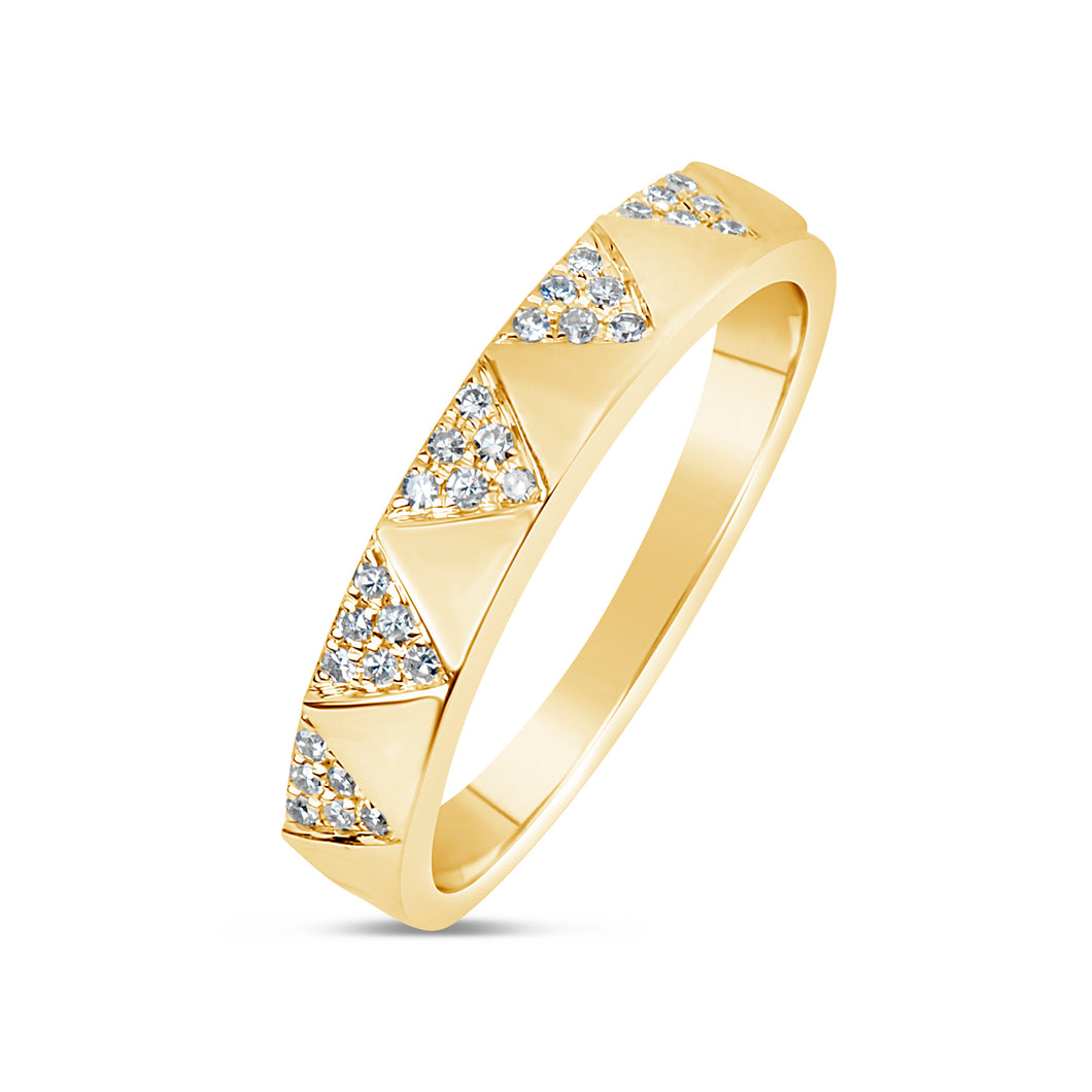 Pave Chevron Band
