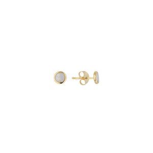 Pearl Enamel Disc Stud (Single)