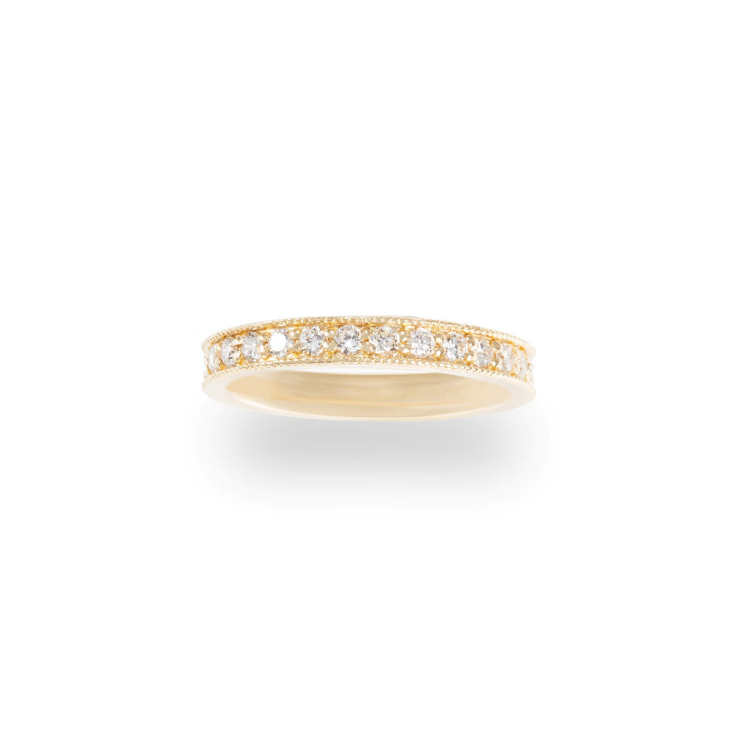 Milgrain Border Diamond Eternity Band