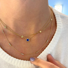 Load image into Gallery viewer, Sapphire Flower Necklace