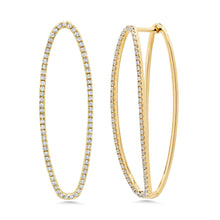 Load image into Gallery viewer, Diamond Illusion Hoops