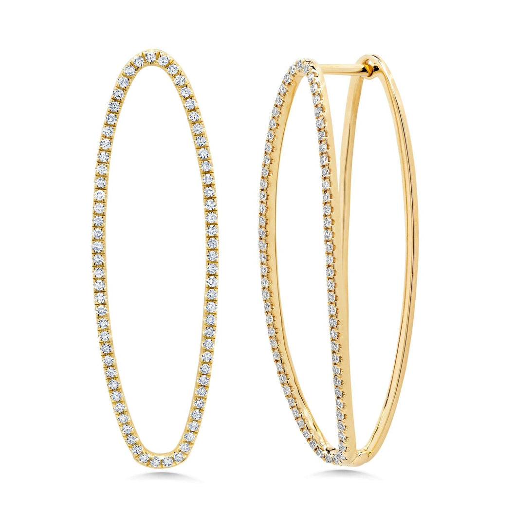 Diamond Illusion Hoops