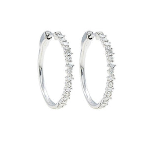 Scatter Diamond Hoops