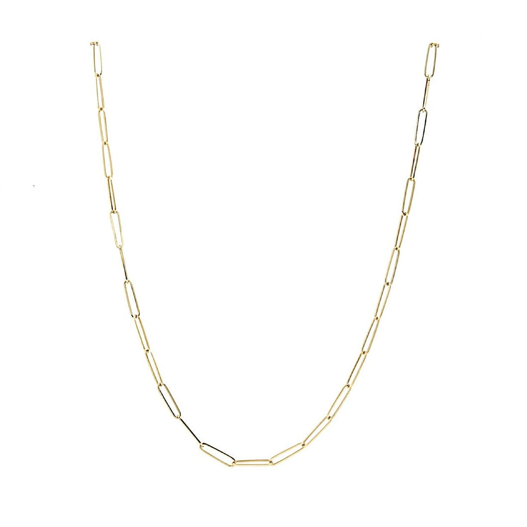 Dainty Paper Clip Necklace