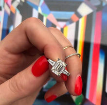 Load image into Gallery viewer, Emerald Cut with Tapered Baguettes