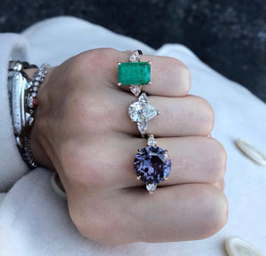 LLJ Triple Signature Pear Ring