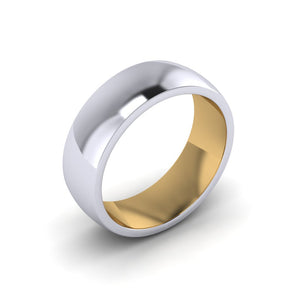 Men's Platinum and Gold Wedding Band