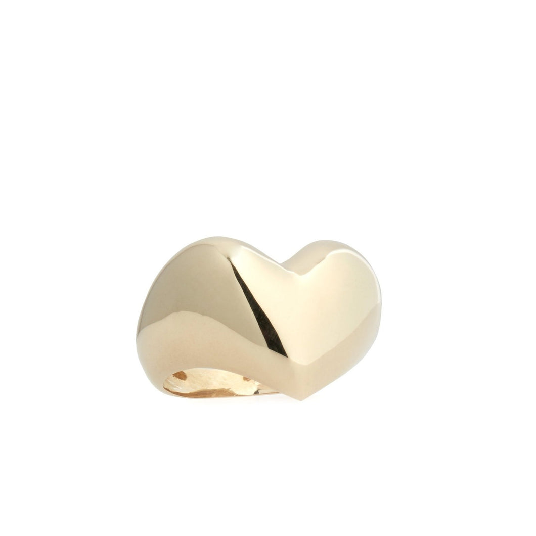 Gold Puffy Heart Ring