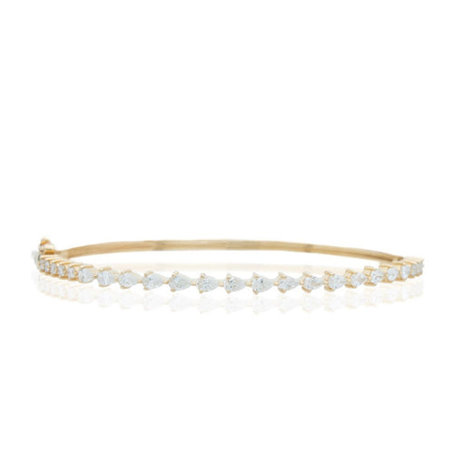 Diamond Pear Bangle