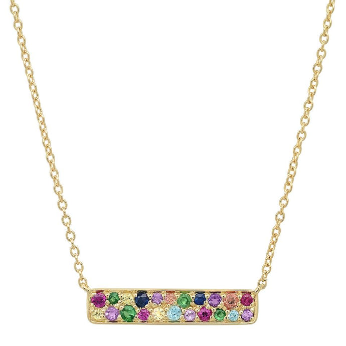 Rainbow Staple Necklace