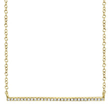 Load image into Gallery viewer, Pave Bar Necklace