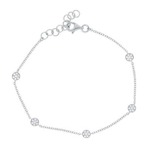 Pave Disc Station Bracelet