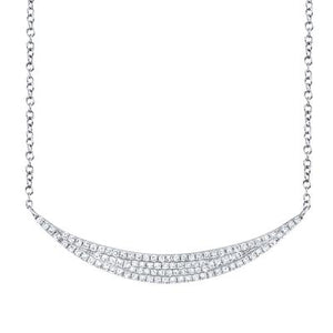 Pave Crescent Necklace