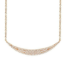 Load image into Gallery viewer, Pave Crescent Necklace