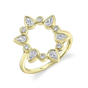 Pear Open Circle Ring