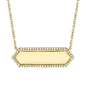 Diamond Bar ID Necklace