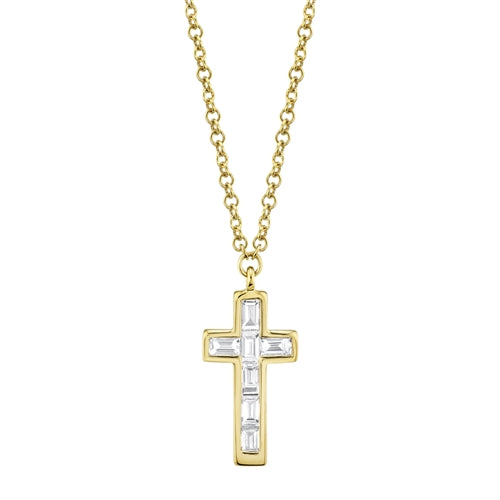Baguette Cross Necklace