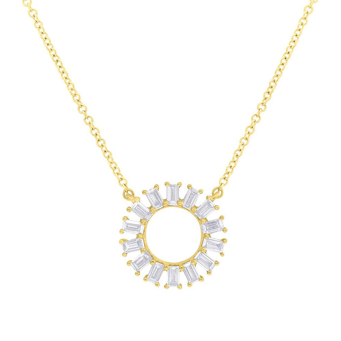Baguette Circle Necklace
