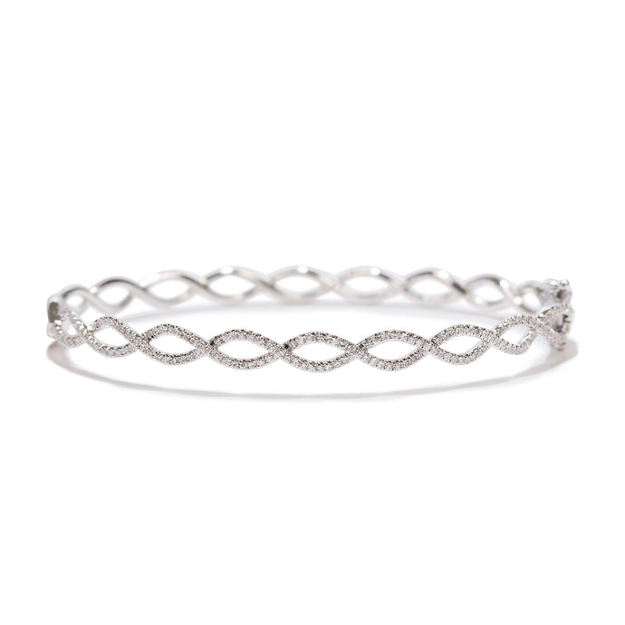 Diamond Twist Bangle