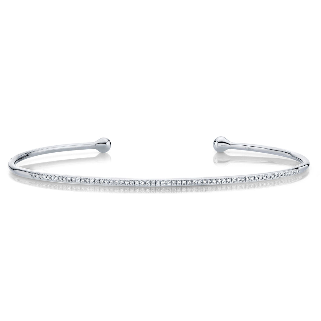 Thin Diamond Open Cuff