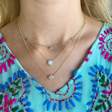 Load image into Gallery viewer, Opal & Pave Heart Necklace