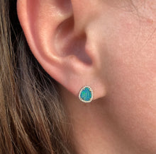 Load image into Gallery viewer, Diamond Opal Earrings