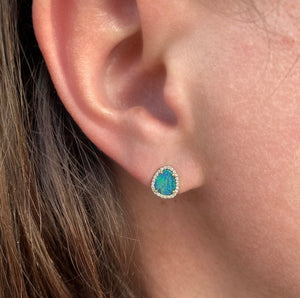 Diamond Opal Earrings