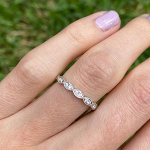 Double Diamond Marquise Band