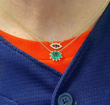Load image into Gallery viewer, Petite Sapphire Evil Eye Necklace