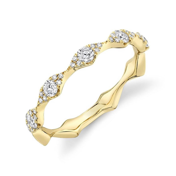 Marquise Shaped Pave Band