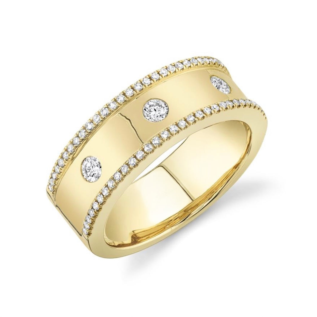Thick Gold and Diamond Band