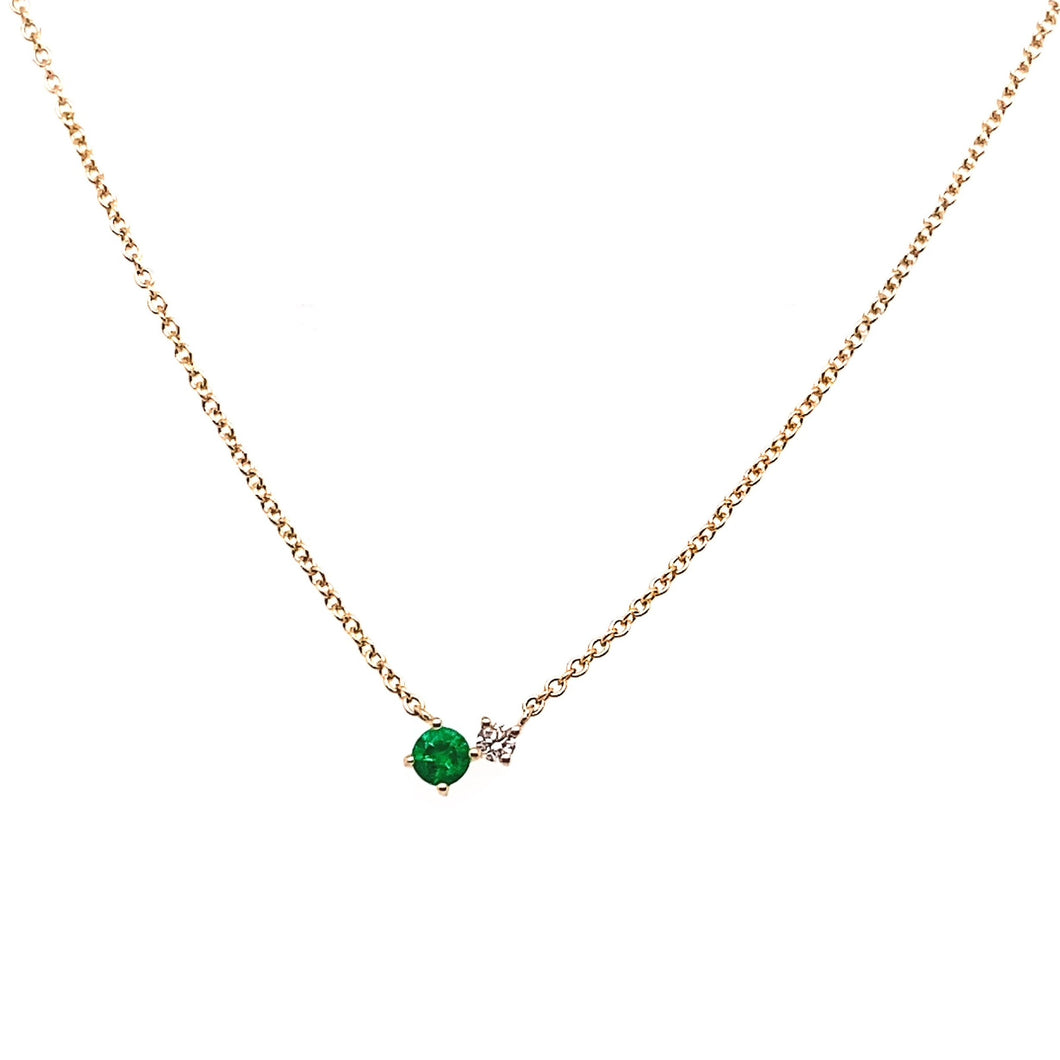 Gemstone and Diamond Duo Necklace