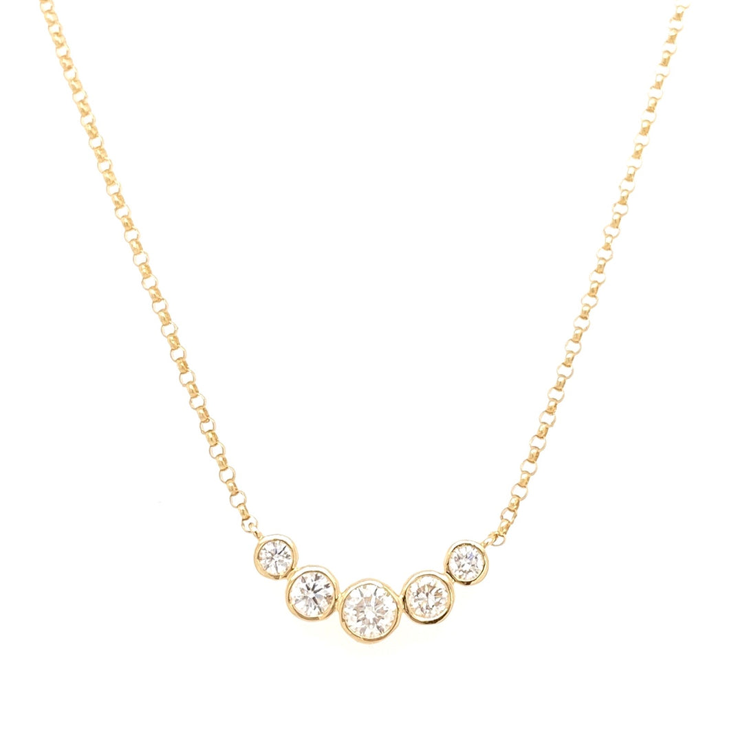 5 Diamond Bubble necklace
