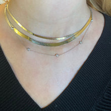 Load image into Gallery viewer, Herringbone Gold Necklace