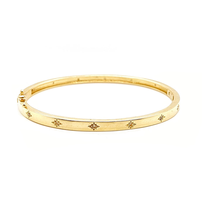 Gold Star and Diamond Cuff