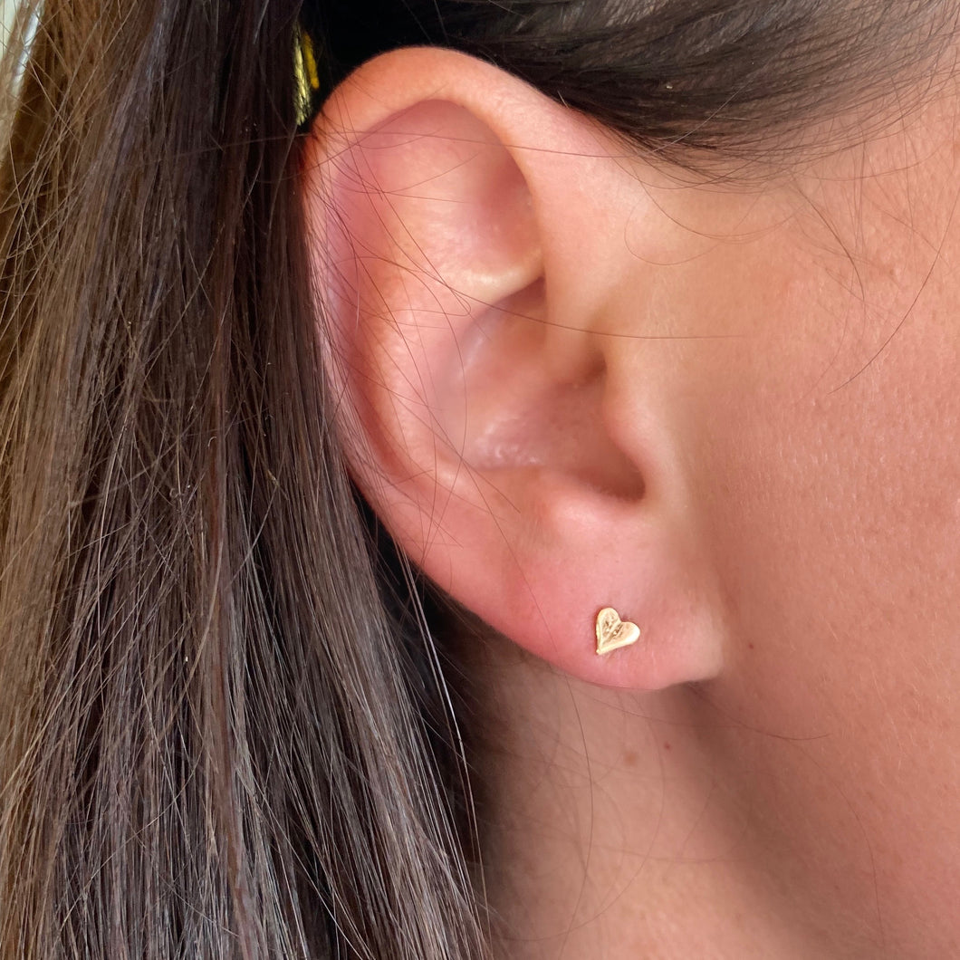 Tiny Gold Heart Stud