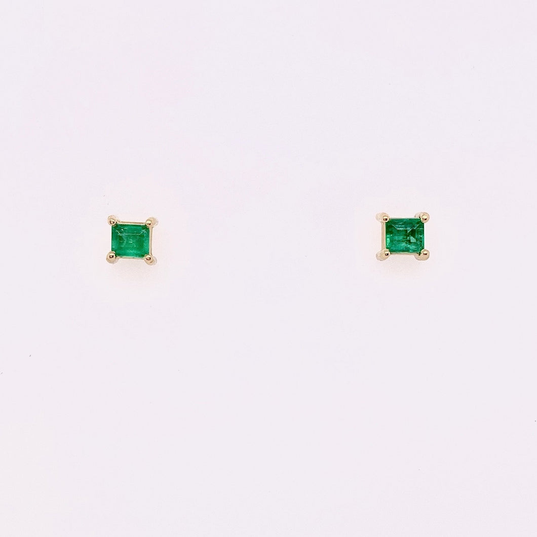 Basket Set Emerald Studs