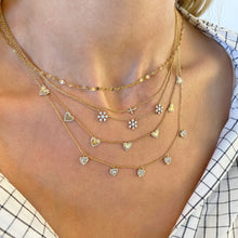 Load image into Gallery viewer, Petite Diamond Cross Necklace