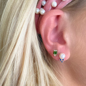 Tourmaline Shield Studs