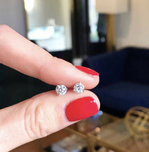 Load image into Gallery viewer, Half Carat Diamond Studs