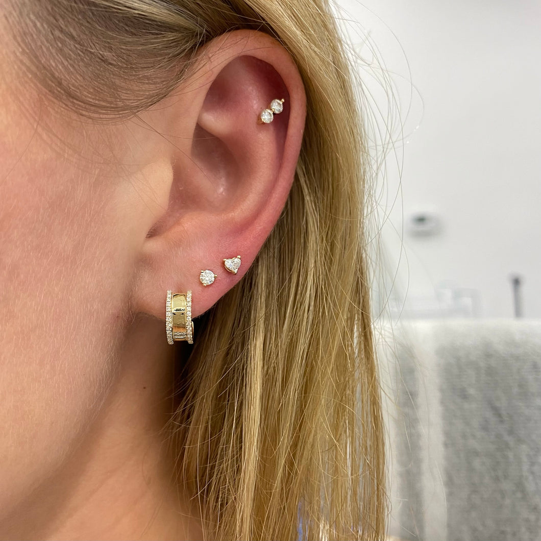 LLJ Mini Diamond Studs (Single)